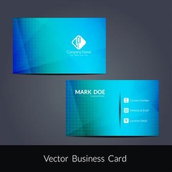 Blaue farbe polygonmuster visitenkarte