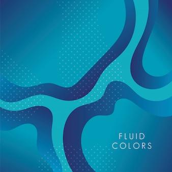Blaue farbenflüssigkeit färbt hintergrund