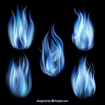 Blaue flammen