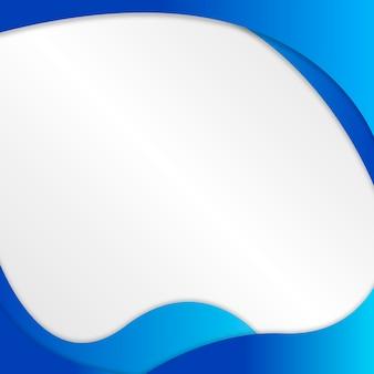 Blaue, flüssige formrahmen-design-ressource