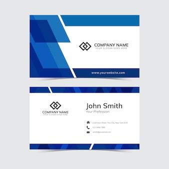 Blaue form-visitenkarte