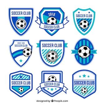 Blaue fußball badges