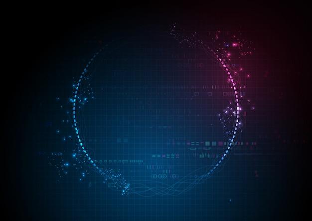 Blaue futuristische mitte-digital-datentechnologie