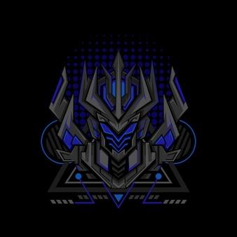 Blaue geometrieart des projekts