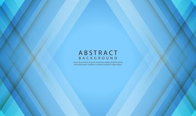 Blaue geometrische abstrakte hintergrundüberlappungsschicht mit 3d-diagonalformen dekoration