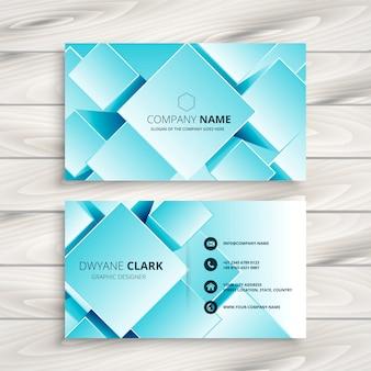 Blaue geometrische visitenkarte