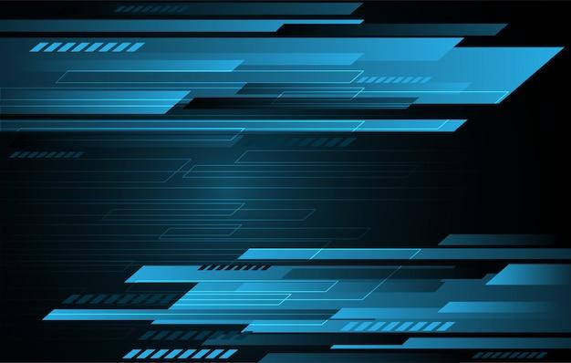 Blaue graue geschwindigkeitsstreifen der abstrakten technologie auf dunklem gefälle. moderner futuristischer hintergrund.