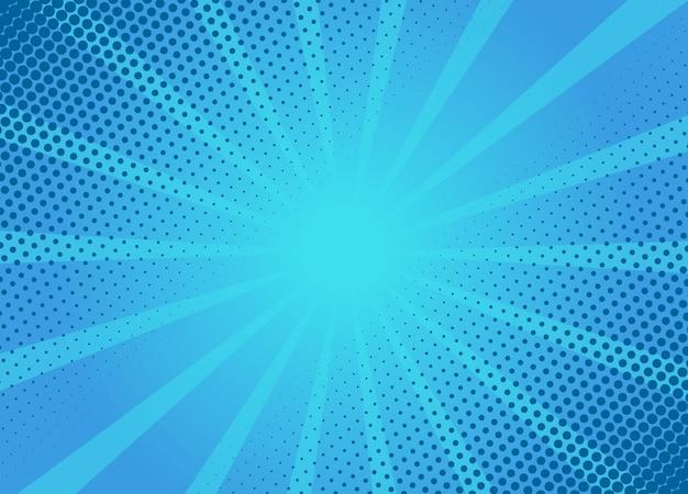 Blaue hintergrundlayoutschablone des retro-cartoons. typische comic-seitenillustration.