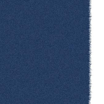 Blaue klassische jeans-denim-textur mit ausgefranster kante