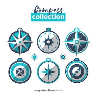 Blaue kompasspackung