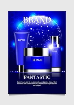 Blaue kosmetische produkte