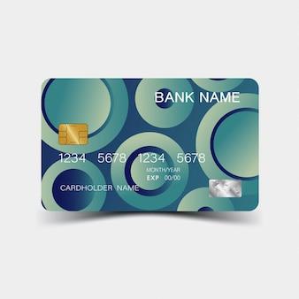Blaue kreditkartenvorlage