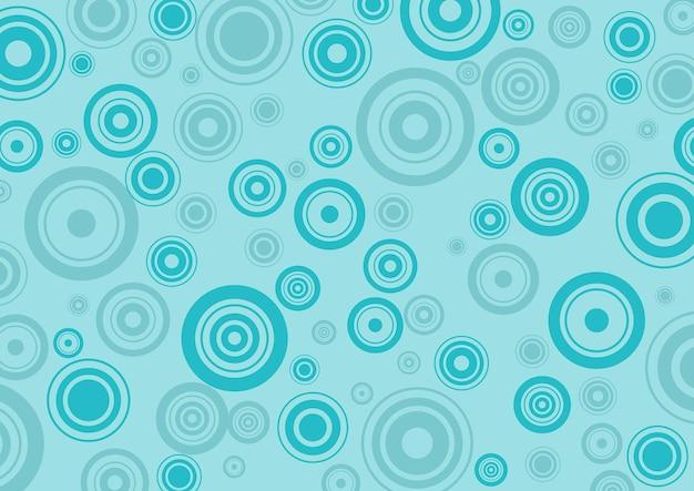 Blaue kreise muster hintergrund