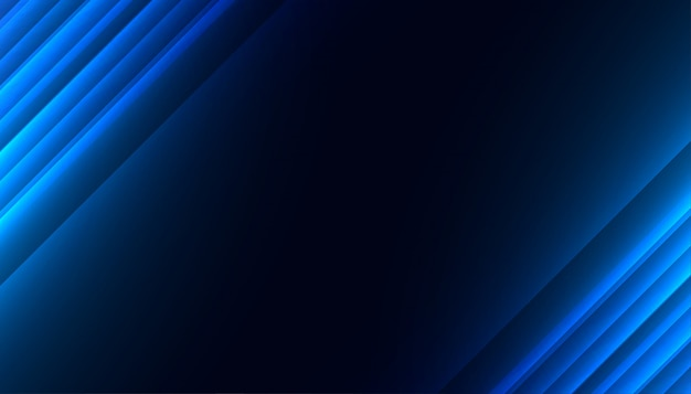 Blaue leuchtende diagonale linien abstrakte hintergrundgestaltung