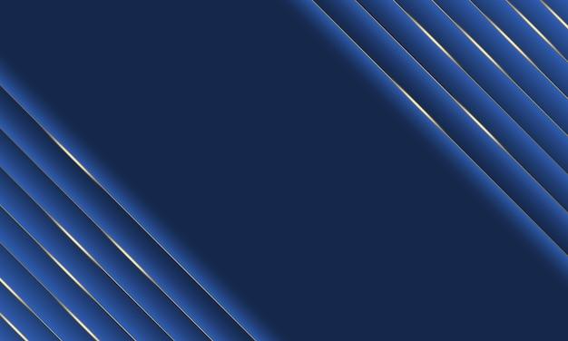 Blaue luxusstreifen mit goldlinienhintergrund. neue art ihres designs.