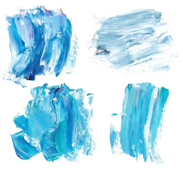 Blaue marmorfarbe spritzt. marmor hintergrundtexturen