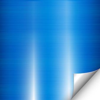 Blaue metallhintergrundecke