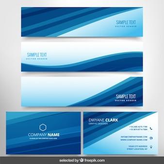 Blaue moderne geschäftsdrucksachen