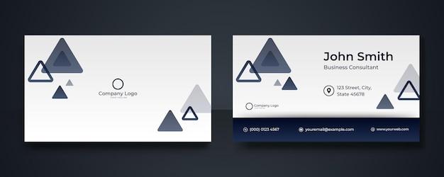 Blaue moderne kreative visitenkarte und namenskarte, horizontales einfaches sauberes vorlagenvektordesign, layout in rechteckgröße