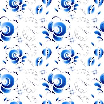 Blaue nahtlose blümchenmuster