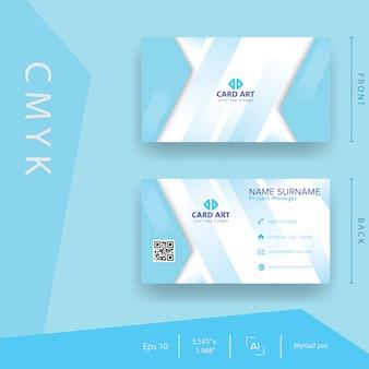 Blaue natur-visitenkarte