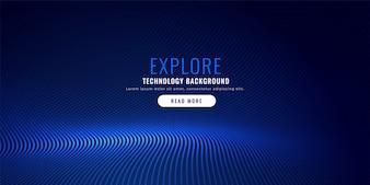 Blaue Partikel Mesh Hintergrund Design