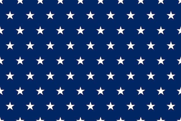 Blaue patriotische usa-flagge nahtloses muster mit sternen