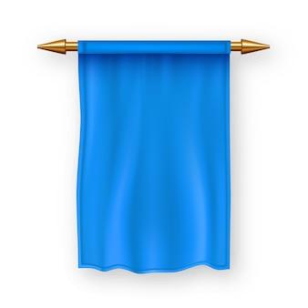Blaue pennat flagge