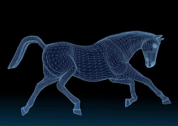 Blaue pferdestruktur
