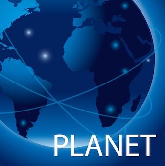 Blaue planetenillustration