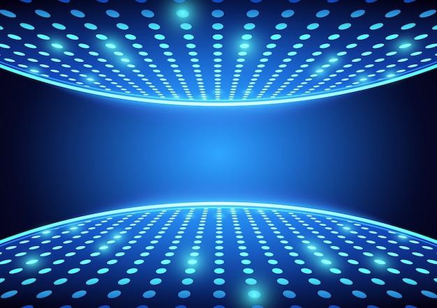 Blaue scheinwerfer tanzfläche