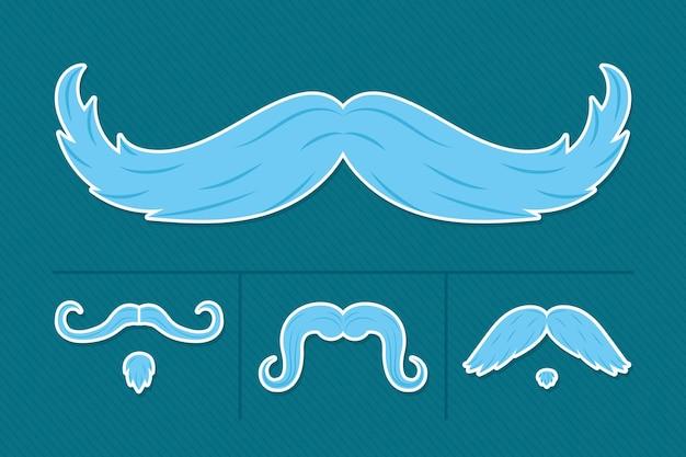 Blaue schnurrbart-styles