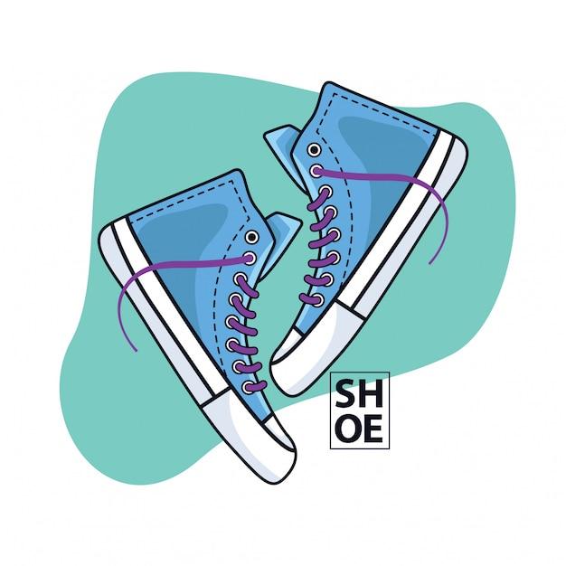 Blaue schuhe
