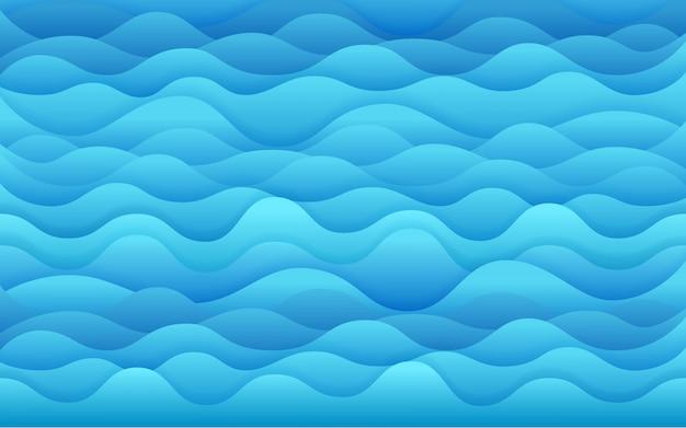 Blaue seevektorabbildung. tropischer vektorhintergrund