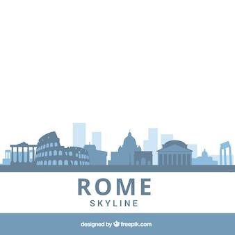 Blaue skyline von rom