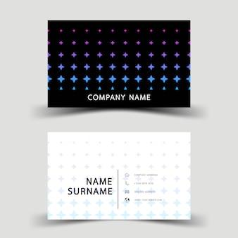 Blaue steigungsvisitenkarteschablone