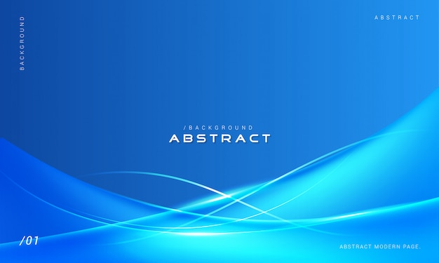 Blaue stilvolle zusammenfassung bewegt hintergrund wellenartig