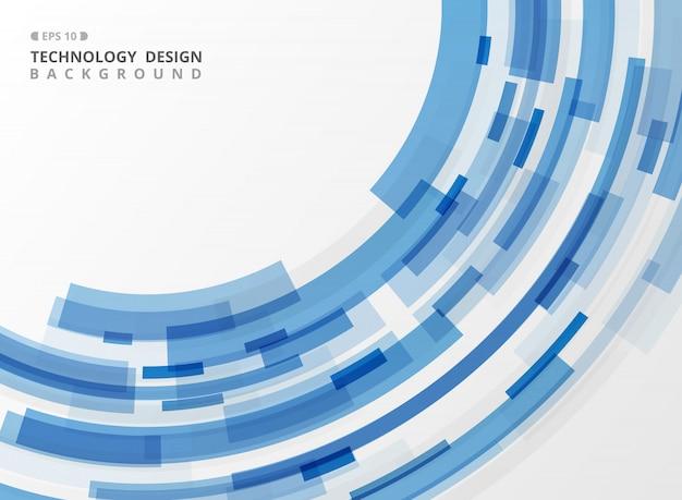Blaue streifenlinie der abstrakten technologie geometrischer hintergrund