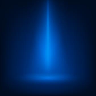 Blaue szene beleuchtete scheinwerfer
