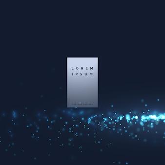 Blaue technologie punkte hintergrunddesign