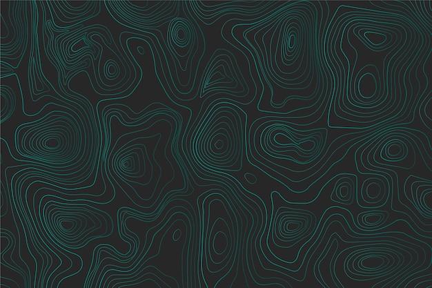 Blaue topografische kartentapete