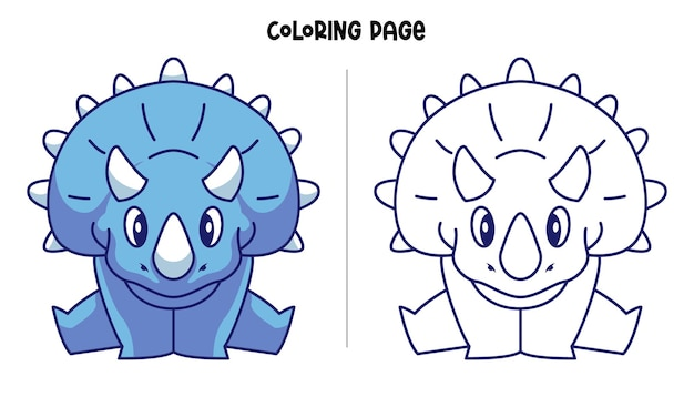 Blaue triceratops machen splits