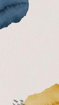 Blaue und gelbe aquarell gemusterte handytapetenschablone