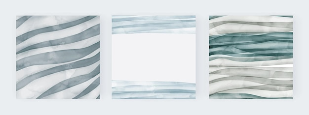 Blaue und grüne aquarelllinien