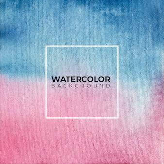 Blaue und lila weiße aquarellfarbe auf papierbeschaffenheit.