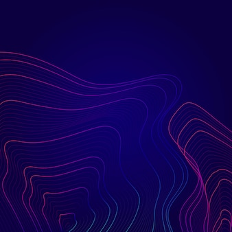 Blaue und rosa abstrakte kartenumrisslinien hintergrund