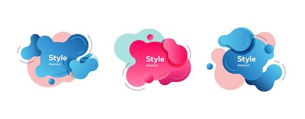 Blaue und rosafarbene formen