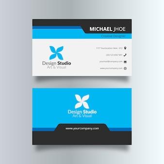 Blaue und schwarze visitenkarte