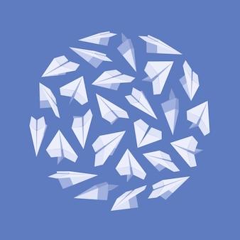 Blaue und weiße kartenvorlage