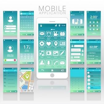 Blaue und weiße mobile app